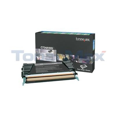 LEXMARK C734DN RP TONER CART BLACK 8K